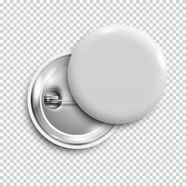 Weiße leere taste des stift 3d getrennt