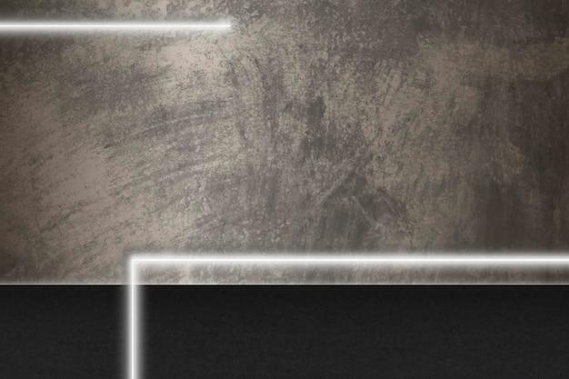 Weiße leuchtende linien auf braunem grunge-hintergrund