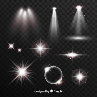 Weiße lichteffektsammlung