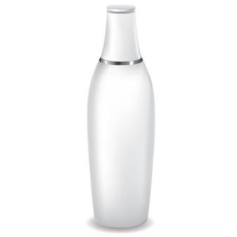 Weiße lotionsflasche