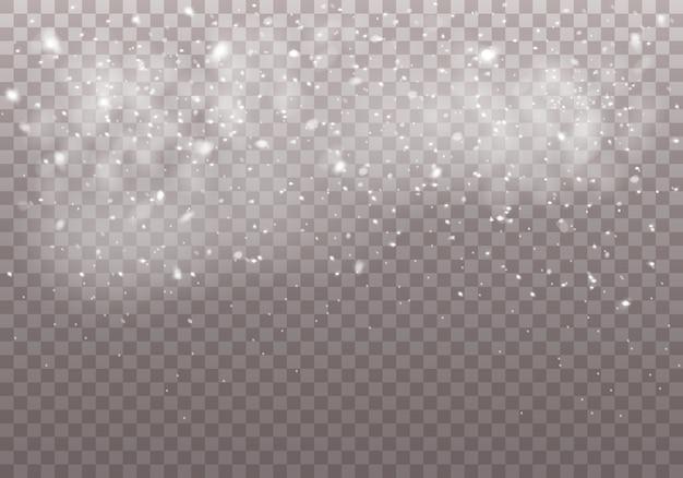 Weiße magische staubpartikel.