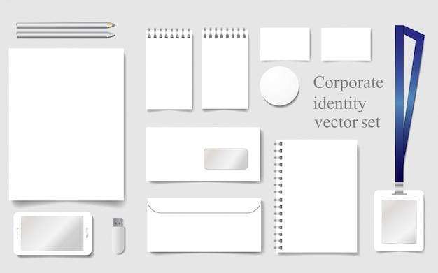 Weiße modellvorlage für corporate identity