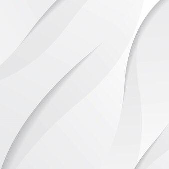 Weiße moderne flüssige hintergrundzusammensetzung mit wellen und schatten