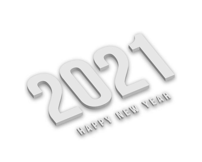 weiße neujahrsfiguren mit schatten.