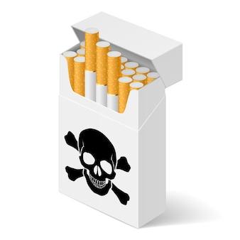 Weiße packung zigaretten