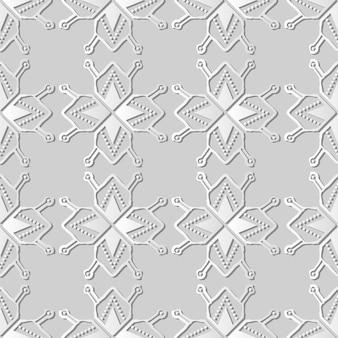 Weiße papierkunst polygon star geometry cross dot frame line, stilvoller dekorationsmusterhintergrund für web-banner-grußkarte