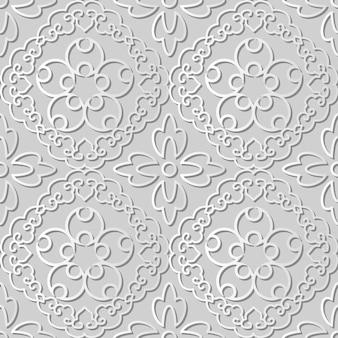 Weiße papierkunst spiral cross frame vine flower, stilvoller dekorationsmusterhintergrund für web-banner-grußkarte