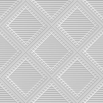 Weiße papierkunst square check cross frame line, stilvoller dekorationsmusterhintergrund für web-banner-grußkarte