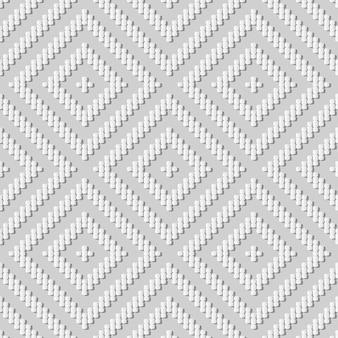 Weiße papierkunstkurve kreuzlinie überprüfen quadratischen rahmen, stilvollen dekorationsmusterhintergrund für web-banner-grußkarte