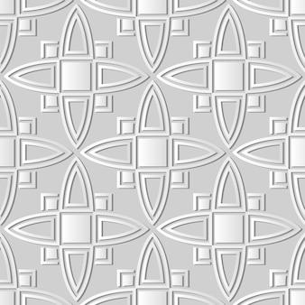 Weiße papierkunstkurve kreuzquadratrahmen-geometrie, stilvoller dekorationsmusterhintergrund für web-banner-grußkarte