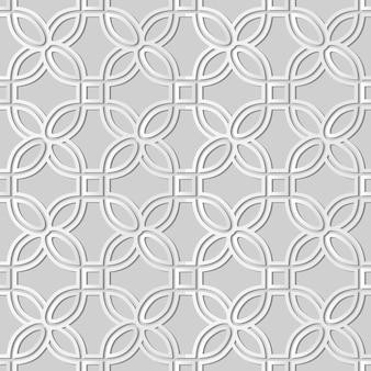 Weiße papierkunstkurve runder eckquadratrahmen, stilvoller dekorationsmusterhintergrund für webbanner-grußkarte