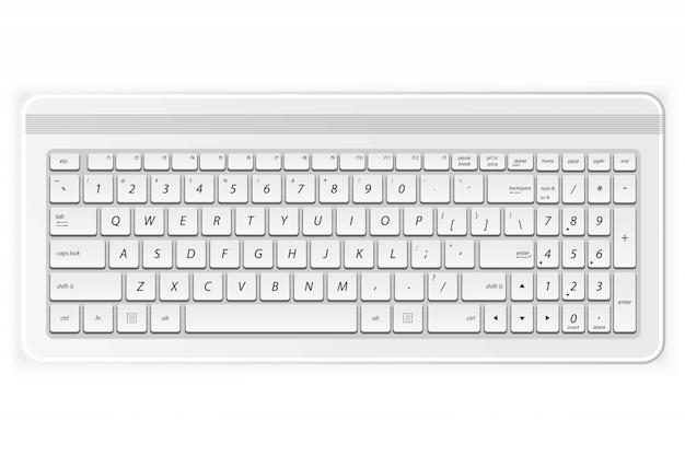 Weiße pc-tastatur