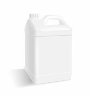 Weiße plastikgallone