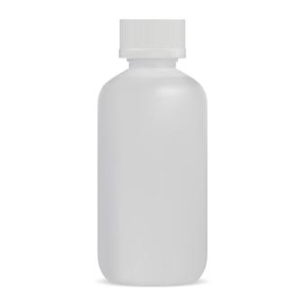 Weiße plastikserumflasche