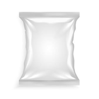 Weiße plastiktüte