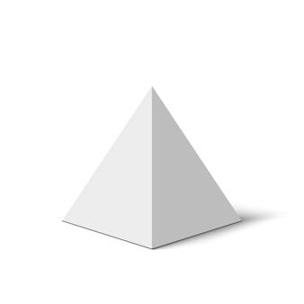 Weiße pyramide. illustration.