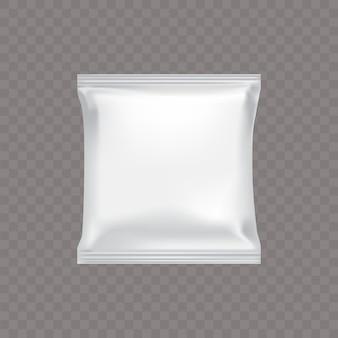 Weiße quadratische plastikverpackung für lebensmittel