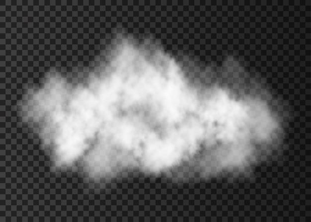 Weiße rauchexplosion isoliert auf transparentem hintergrund dampfwolken-spezialeffekt