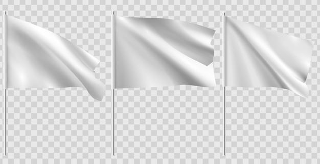 Weiße saubere flaggenillustration