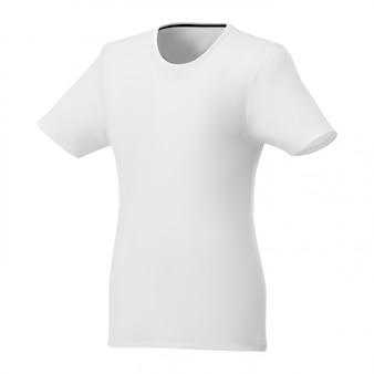 Weiße schablone des frauent-shirts, kurzärmelsport