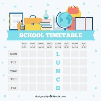 Weiße schule zeitplan vorlage