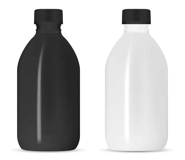 Weiße shampooflasche