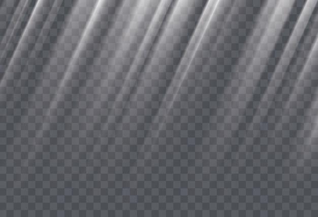 Weiße sonnenstrahlen und glimmlichteffekt