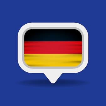 Weiße sprechblase mit deutschlandflagge
