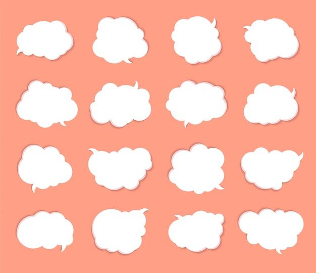 Weiße sprechblasen