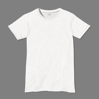 Weiße t-shirt entwurfsvorlage