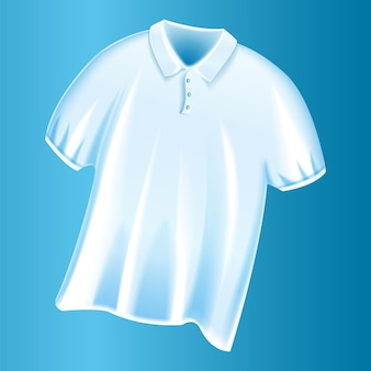 Weiße t-shirt ikone f