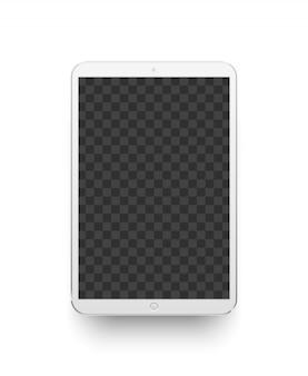 Weiße tablette. elektronikgerät abbildung