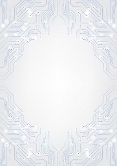 Weiße technologie-hintergrund-schaltpläne