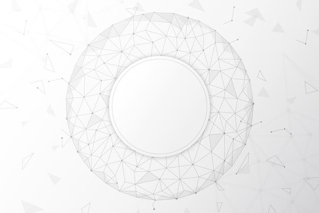 Weiße technologietapete