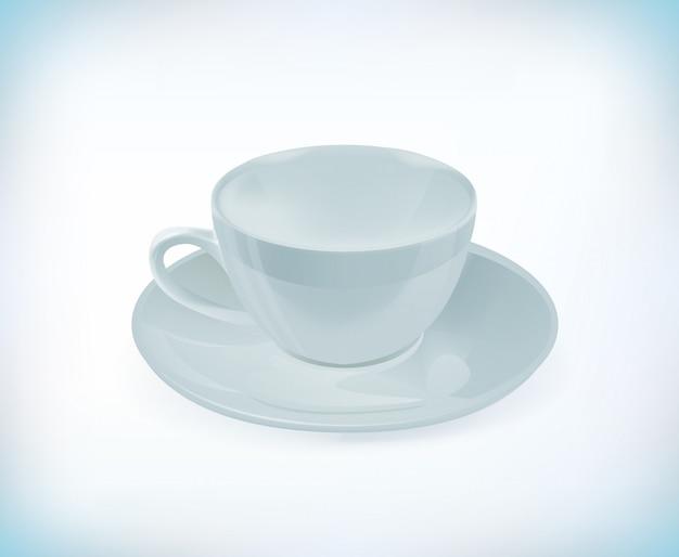 Weiße teetasse.