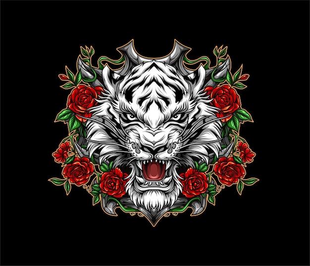 Weiße tigerillustration