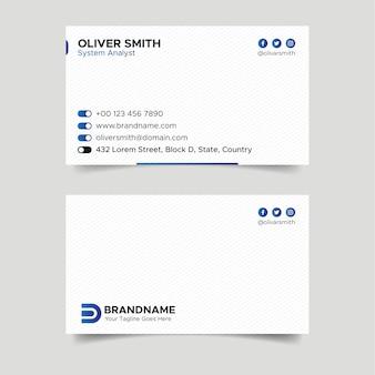 Weiße und blaue ui-visitenkarten-entwurfsvorlage