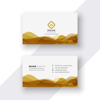 Weiße und goldene visitenkarte