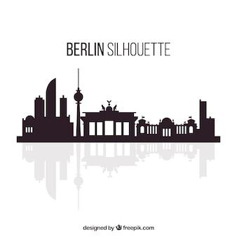 Weiße und schwarze skyline von berlin
