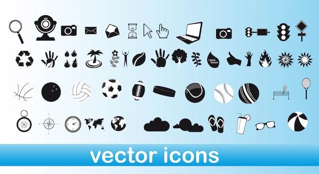 Weiße und schwarze symbole