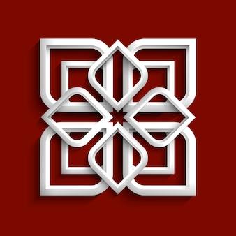 Weiße verzierung 3d in der arabischen art
