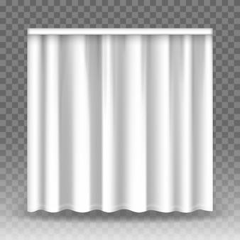 Weiße vorhänge auf transparentem hintergrund.