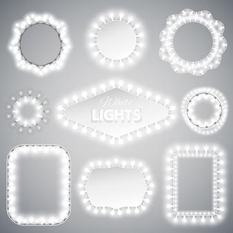 Weiße weihnachtslichter frames