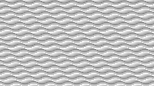 Weiße wellenbeschaffenheit, graues abstraktes muster 3d, gewellte linien masern hintergrund