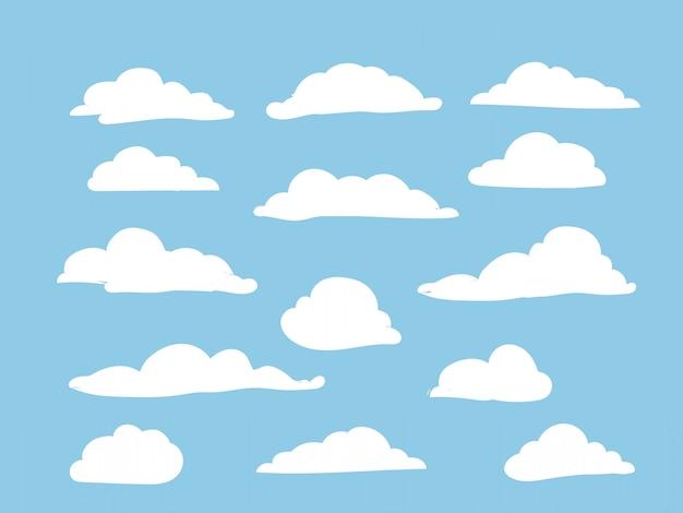 Weiße wolken am himmel gesetzt