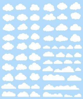 Weiße wolken sammlung