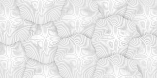 Weißer 3d-hintergrund mit geometrischen abgerundeten formen
