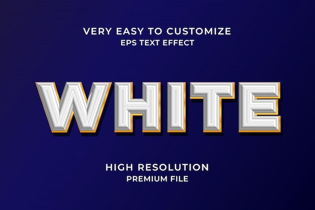Weißer 3d-texteffekt