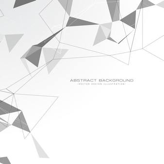Weißer abstrakte dreiecke hintergrund