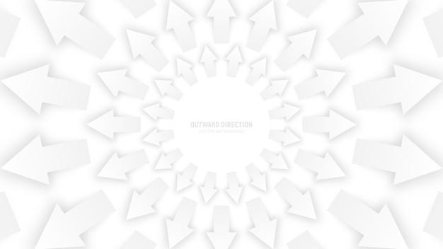 Weißer abstrakter hintergrund der pfeil-3d